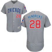 Wholesale Cheap Cubs #28 Kyle Hendricks Grey Flexbase Authentic Collection Road Stitched MLB Jersey
