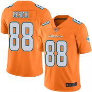 Wholesale Cheap Nike Dolphins #88 Mike Gesicki Orange Men's Stitched NFL Limited Rush Jersey