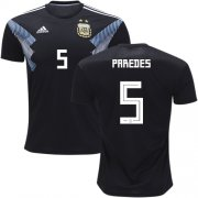 Wholesale Cheap Argentina #5 Paredes Away Soccer Country Jersey