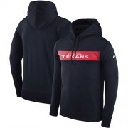 Wholesale Cheap Men's Houston Texans Nike Navy Sideline Team Performance Pullover Hoodie