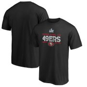 Wholesale Cheap Men's San Francisco 49ers NFL Black Super Bowl LIV Bound Gridiron T-Shirt