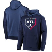 Wholesale Cheap Atlanta Braves Majestic 2019 Postseason Dugout Authentic Pullover Hoodie Navy