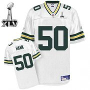 Wholesale Cheap Packers #50 A.J. Hawk White Super Bowl XLV Stitched NFL Jersey