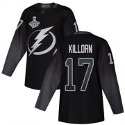 Cheap Adidas Lightning #17 Alex Killorn Black Alternate Authentic 2020 Stanley Cup Champions Stitched NHL Jersey