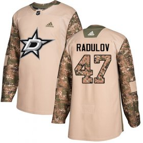 Wholesale Cheap Adidas Stars #47 Alexander Radulov Camo Authentic 2017 Veterans Day Youth Stitched NHL Jersey