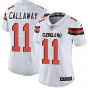 Wholesale Cheap Nike Browns #11 Antonio Callaway White Women's Stitched NFL Vapor Untouchable Limited Jersey