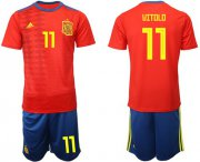 Wholesale Cheap Spain #11 Vitolo Home Soccer Country Jersey