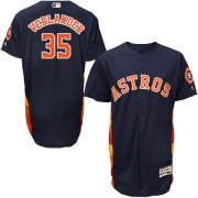 Wholesale Cheap Astros #35 Justin Verlander Navy Blue Flexbase Authentic Collection Stitched MLB Jersey
