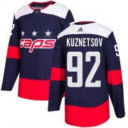 Wholesale Cheap Adidas Capitals #92 Evgeny Kuznetsov Navy Authentic 2018 Stadium Series Stitched Youth NHL Jersey