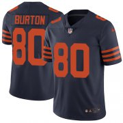 Wholesale Cheap Nike Bears #80 Trey Burton Navy Blue Alternate Men's Stitched NFL Vapor Untouchable Limited Jersey