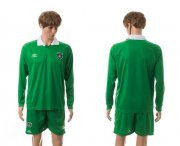 Wholesale Cheap Ireland Blank Green Home Long Sleeves Soccer Country Jersey