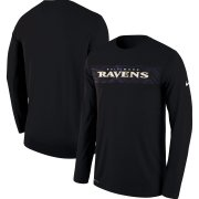 Wholesale Cheap Baltimore Ravens Nike Sideline Seismic Legend Long Sleeve T-Shirt Black
