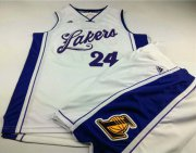 Wholesale Cheap Lakers #24 Kobe Bryant White 2015-2016 Christmas Day A Set Stitched NBA Jersey