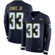 Wholesale Cheap Nike Chargers #33 Derwin James Jr Navy Blue Team Color Men's Stitched NFL Limited Therma Long Sleeve Jersey