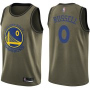Wholesale Cheap Nike Warriors #0 D'Angelo Russell Green NBA Swingman Salute to Service Jersey