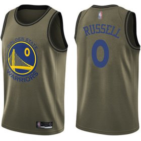 Wholesale Cheap Nike Warriors #0 D\'Angelo Russell Green NBA Swingman Salute to Service Jersey