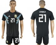 Wholesale Cheap Argentina #21 Dybala Away Soccer Country Jersey