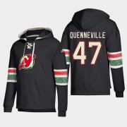Wholesale Cheap New Jersey Devils #47 John Quenneville Black adidas Lace-Up Pullover Hoodie