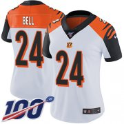 Wholesale Cheap Nike Bengals #24 Vonn Bell White Women's Stitched NFL 100th Season Vapor Untouchable Limited Jersey