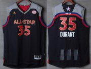 Wholesale Cheap Men's Western Conference Golden State Warriors #35 Kevin Durant adidas Black Charcoal 2017 NBA All-Star Game Swingman Jersey