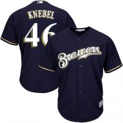 Wholesale Cheap Brewers #46 Corey Knebel Navy blue Cool Base Stitched Youth MLB Jersey