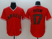 Wholesale Cheap Angels of Anaheim #17 Shohei Ohtani Red New Cool Base 2018 Memorial Day Stitched MLB Jersey