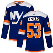 Wholesale Cheap Adidas Islanders #53 Casey Cizikas Blue Authentic Alternate Stitched NHL Jersey