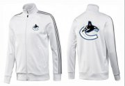 Wholesale NHL Vancouver Canucks Zip Jackets White-2