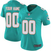 Wholesale Cheap Nike Miami Dolphins Customized Aqua Green Team Color Stitched Vapor Untouchable Limited Women's NFL Jersey
