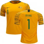 Wholesale Cheap Australia #1 Ryan Home Soccer Country Jersey
