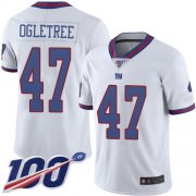 Wholesale Cheap Nike Giants #47 Alec Ogletree White Men's Stitched NFL Limited Rush 100th Season Jersey