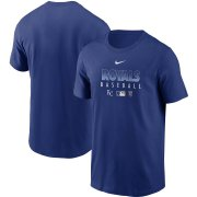 Wholesale Cheap Men's Kansas City Royals Nike Royal Authentic Collection Team Performance T-Shirt