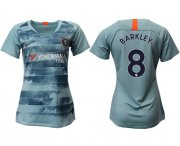 Wholesale Cheap Women's Chelsea #8 Barkley Third Soccer Club Jersey