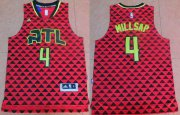 Wholesale Cheap Men's Atlanta Hawks #4 Paul Millsap Revolution 30 Swingman 2015-16 New Red Jersey