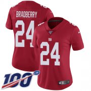 Wholesale Cheap Nike Giants #24 James Bradberry Red Alternate Women's Stitched NFL 100th Season Vapor Untouchable Limited Jersey