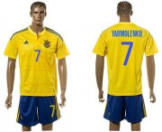 Wholesale Cheap Ukraine #7 Yarmolenko Home Soccer Country Jersey