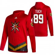 Wholesale Cheap Vegas Golden Knights #89 Alex Tuch Adidas Reverse Retro Pullover Hoodie Red