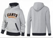 Wholesale Cheap San Francisco Giants Pullover Hoodie Grey & Black