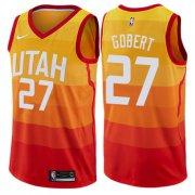 Wholesale Cheap Nike Utah Jazz #27 Rudy Gobert Orange NBA Swingman City Edition Jersey