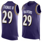 Wholesale Cheap Nike Ravens #29 Earl Thomas III Purple Team Color Men's Stitched NFL Limited Tank Top Jersey