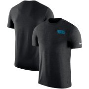 Wholesale Cheap Carolina Panthers Nike On-Field Coaches UV Performance T-Shirt Black
