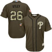 Wholesale Cheap Phillies #26 Chase Utley Green Salute to Service Stitched Youth MLB Jersey