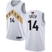Wholesale Cheap Raptors #14 Danny Green White 2019 Finals Bound Basketball Swingman City Edition 2018-19 Jersey
