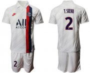 Wholesale Cheap Paris Saint-Germain #2 T.Silva Third Soccer Club Jersey