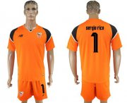 Wholesale Cheap Sevilla #1 Sergio Rico Orange Goalkeeper Soccer Club Jersey