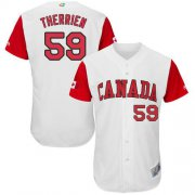 Wholesale Cheap Team Canada #59 Jessen Therrien White 2017 World MLB Classic Authentic Stitched MLB Jersey