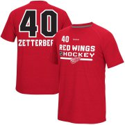 Wholesale Cheap Detroit Red Wings #40 Henrik Zetterberg Reebok CI Freeze Supremium Name & Number T-Shirt Red