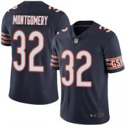 Wholesale Cheap Nike Bears #32 David Montgomery Navy Blue Team Color Men's Stitched NFL Vapor Untouchable Limited Jersey