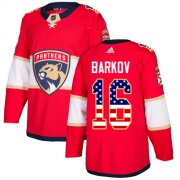 Wholesale Cheap Adidas Panthers #16 Aleksander Barkov Red Home Authentic USA Flag Stitched Youth NHL Jersey