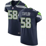 Wholesale Cheap Nike Seahawks #58 Darrell Taylor Steel Blue Team Color Men's Stitched NFL Vapor Untouchable Elite Jersey